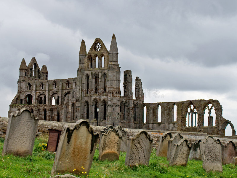 Abadía de Whitby fotos de archivo