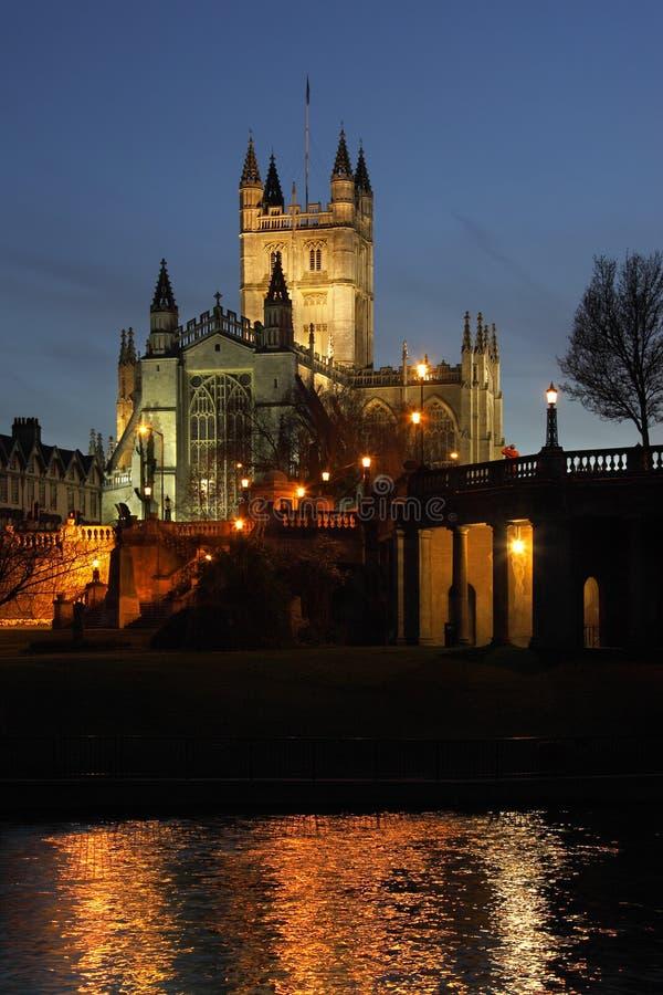 Abadía del baño en la ciudad del baño - Inglaterra imágenes de archivo libres de regalías