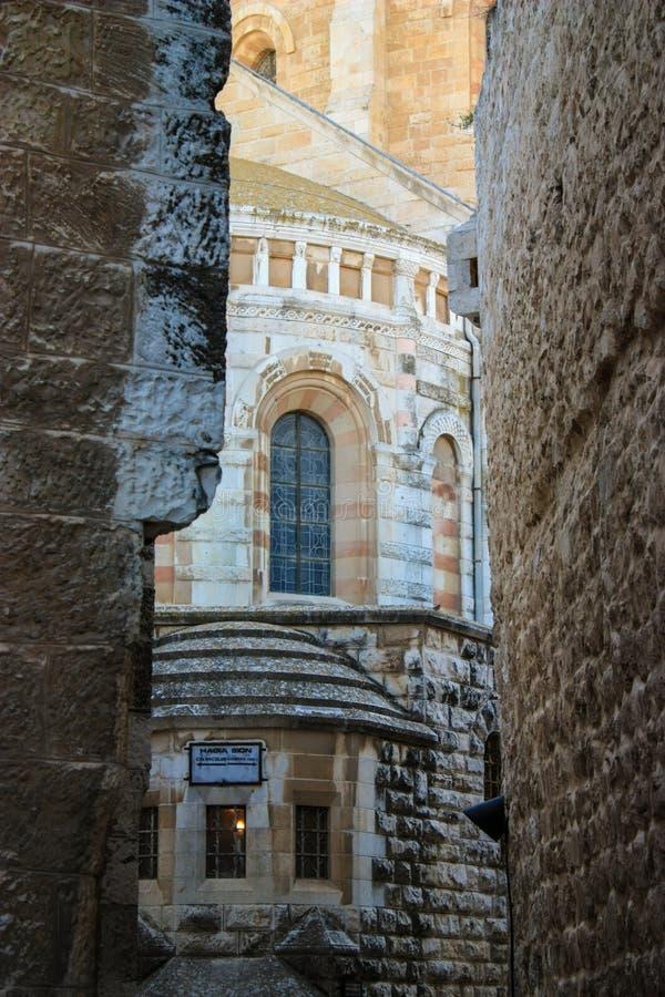 Abadía del Dormition, Jerusalén, Israel, soporte santo de Zion, 0 foto de archivo libre de regalías