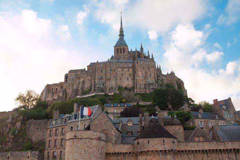 Abadía Del Saint-Michel De Mont Fotografía de archivo