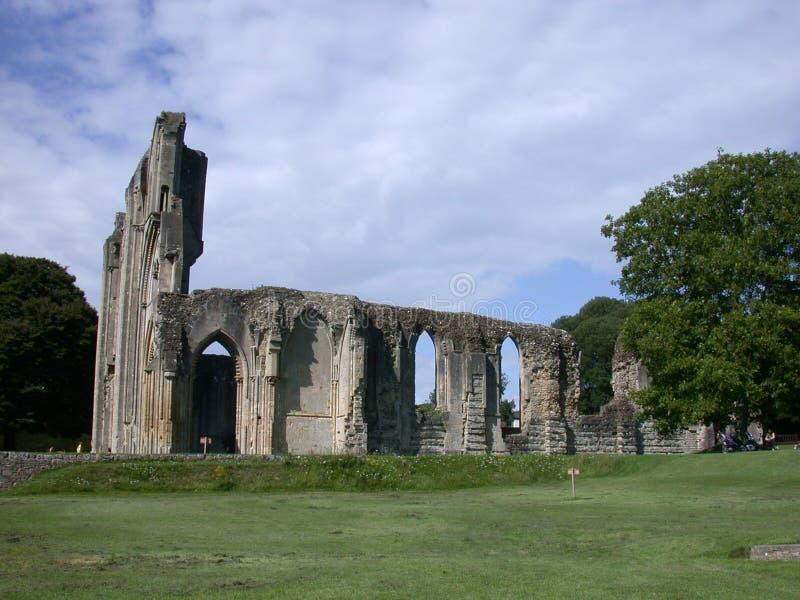 Abadía Somerset de Glastonbury   foto de archivo libre de regalías