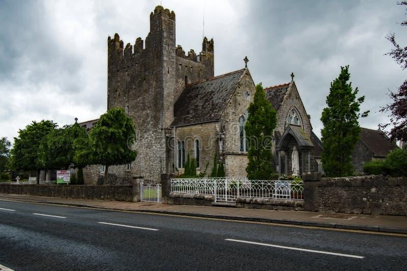 Abadía vieja en Adare Irlanda foto de archivo