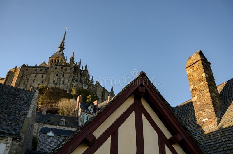 Abad?a del Saint Michel de Mont francia foto de archivo