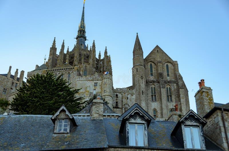 Abad?a del Saint Michel de Mont francia fotos de archivo