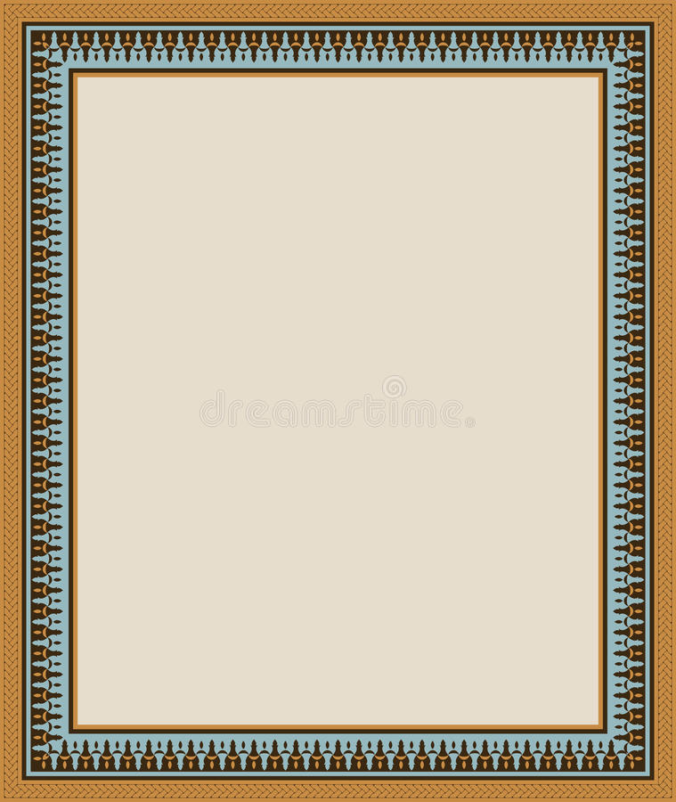 Abadan Arabic Frame Five stock vector. Illustration of arabic - 35197338