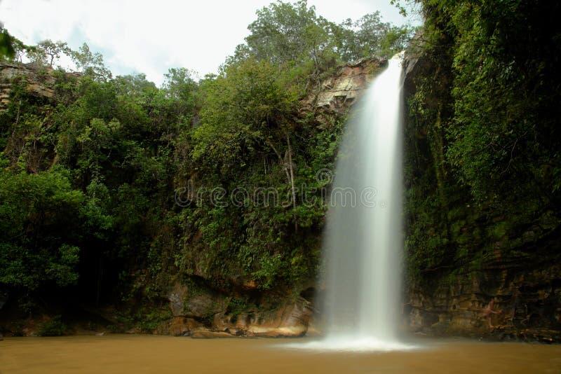 Abade waterfall near Pirenopolis royalty free stock images