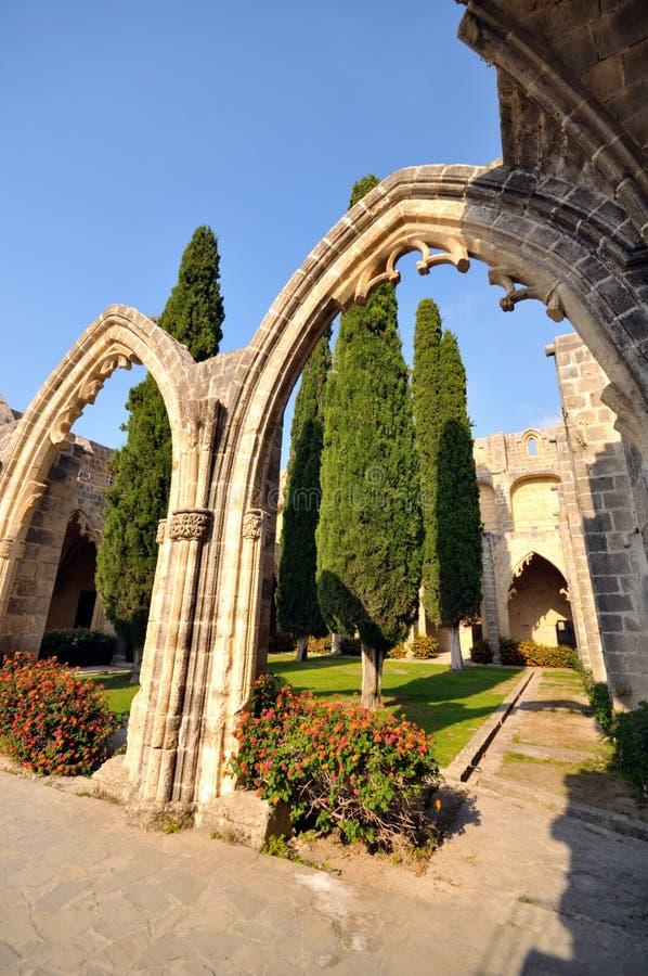 Abadia de Bellapais, Kyrenia imagens de stock