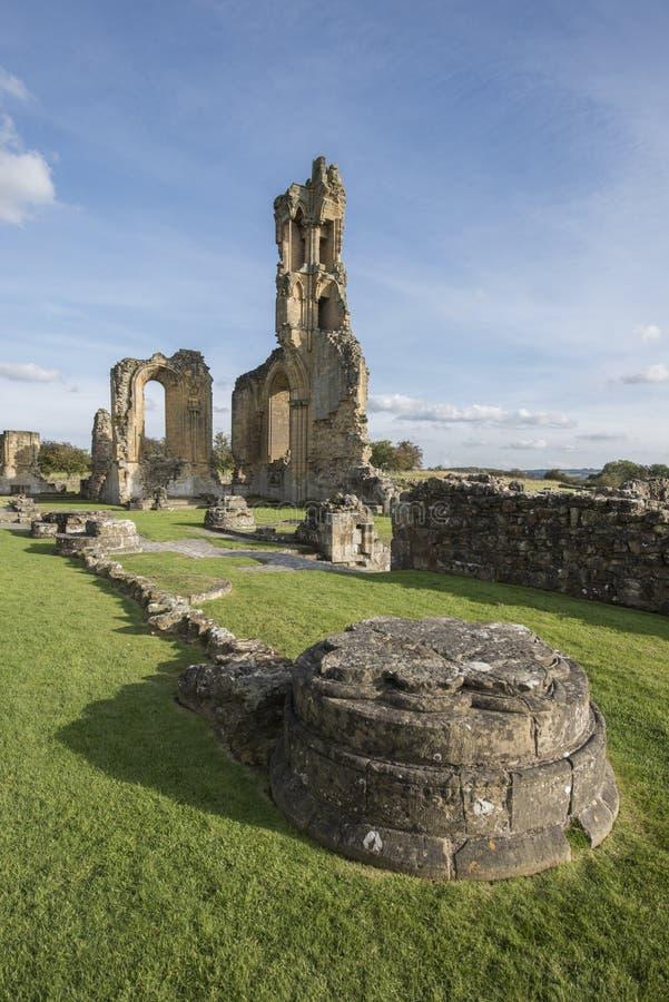 Abadia de Byland, North Yorkshire, Inglaterra imagem de stock