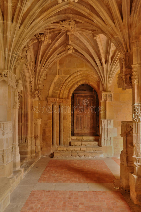 Abadia de Cadouin em Perigord fotografia de stock royalty free