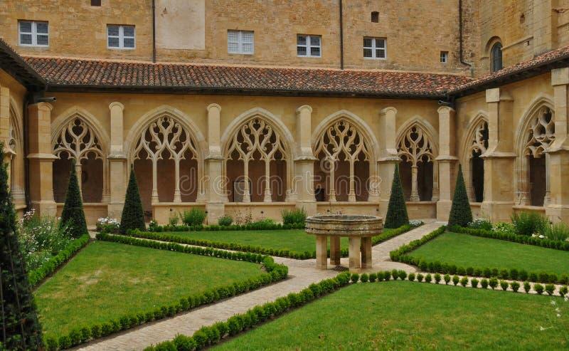 Abadia de Cadouin em Perigord fotos de stock royalty free