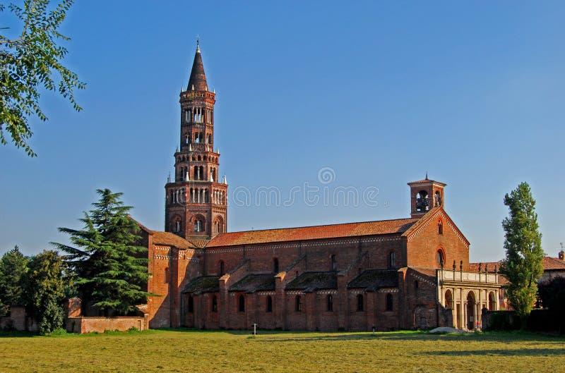A abadia de Chiaravalle, Italy fotos de stock