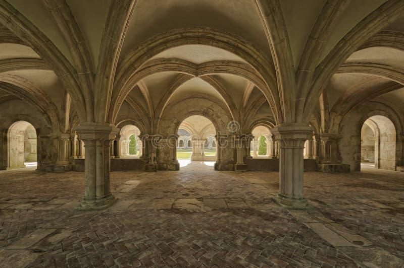 Abadia de Fontenay fotos de stock