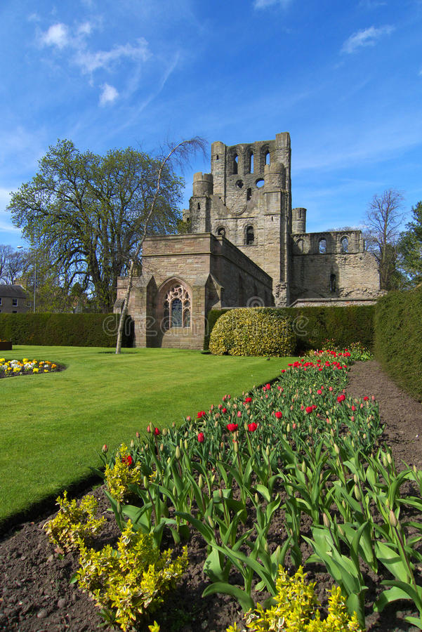 Abadia de Kelso, beiras, Scotland foto de stock royalty free