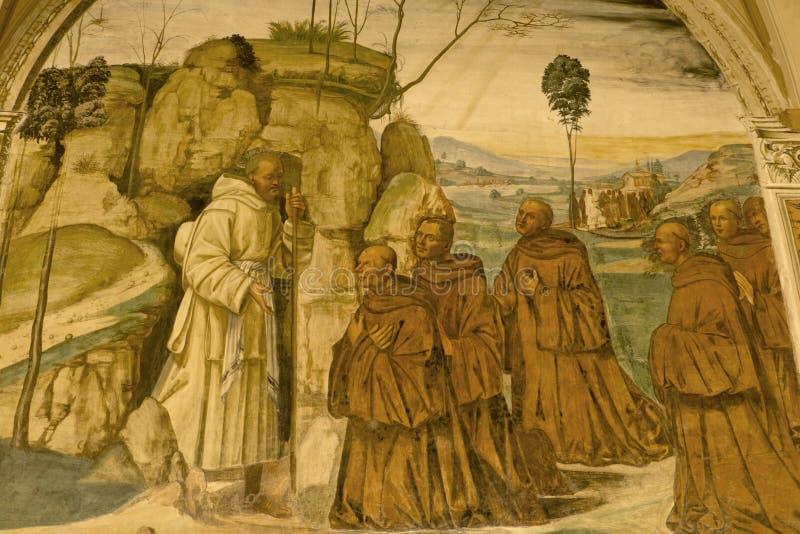 Abadia de Monte Oliveto Maggiore, Siena, Tosc?nia - It?lia fotografia de stock royalty free