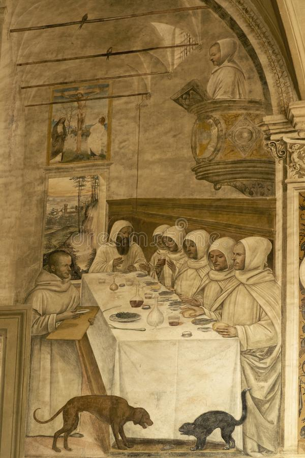 Abadia de Monte Oliveto Maggiore, Siena, Tosc?nia - It?lia fotos de stock