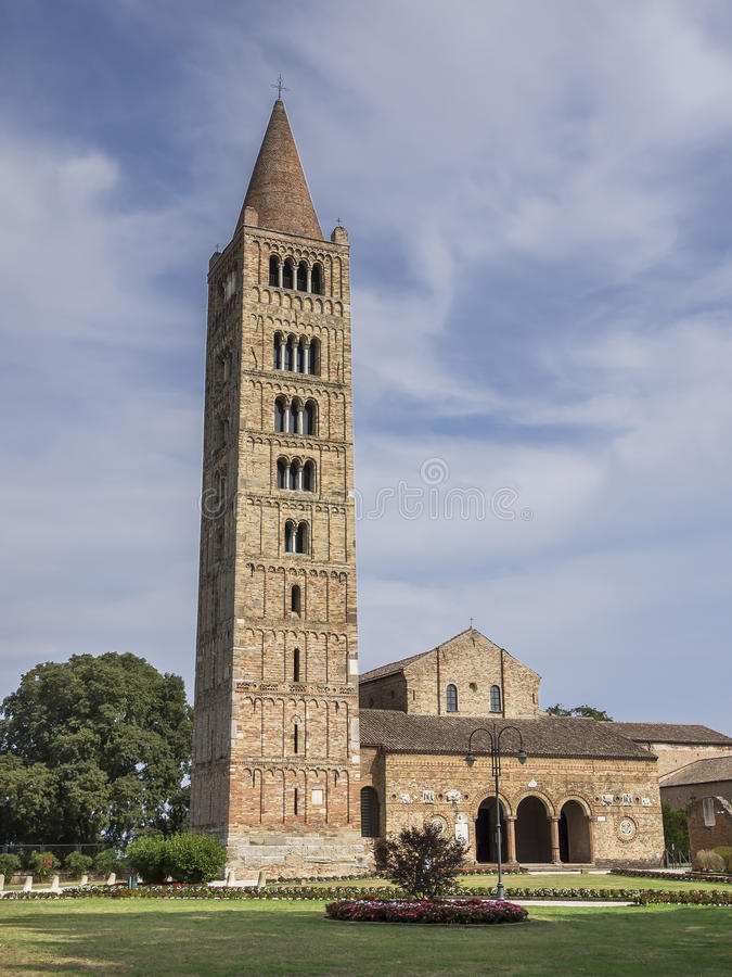 Abadia de Pomposa, Codigoro fotos de stock royalty free