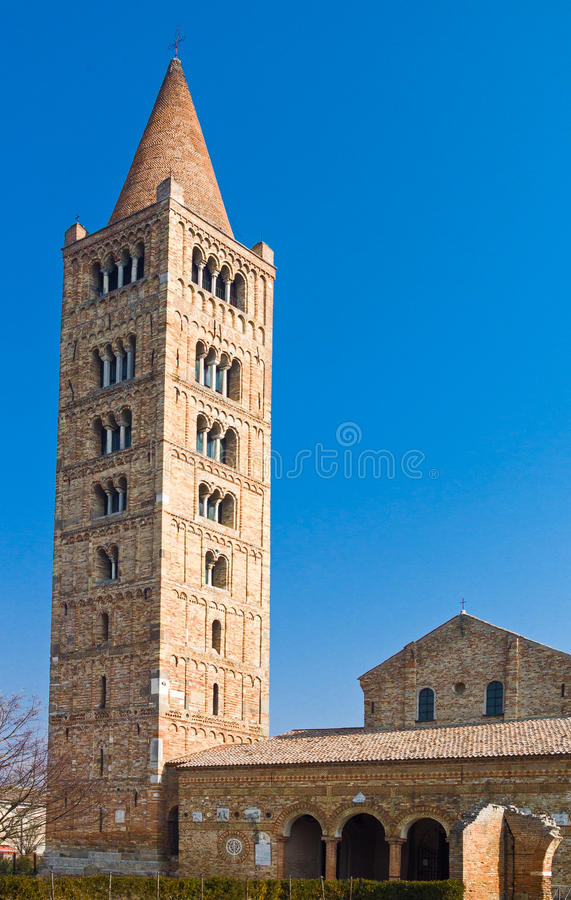 A abadia de Pomposa de Codigoro fotos de stock royalty free
