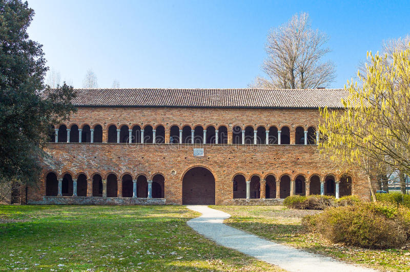 A abadia de Pomposa de Codigoro fotos de stock