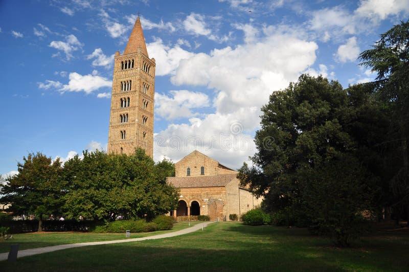 Abadia de Pomposa - monastério do licor beneditino, Itália fotos de stock