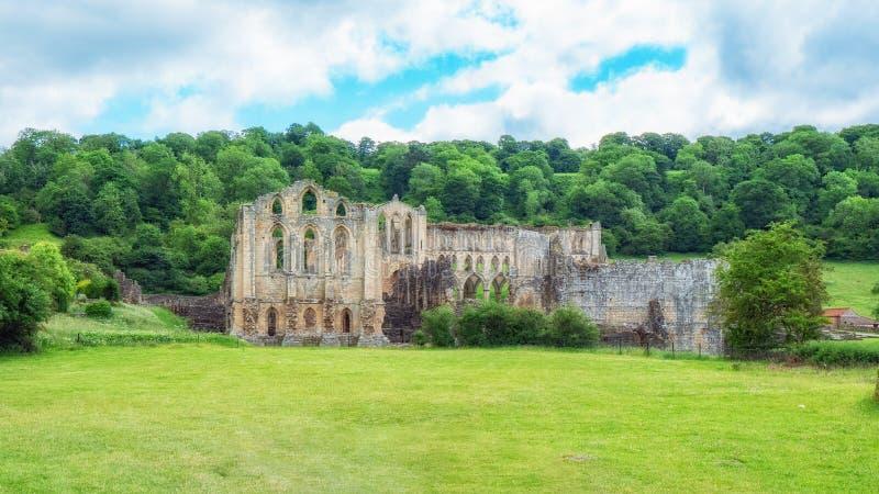 Abadia de Rievaulx em Yorkshire, Inglaterra fotografia de stock royalty free
