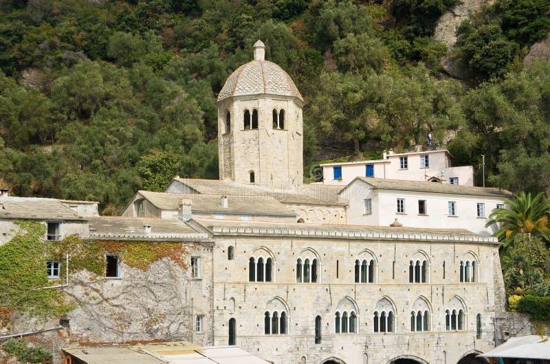 Abadia de San Fruttuoso fotos de stock