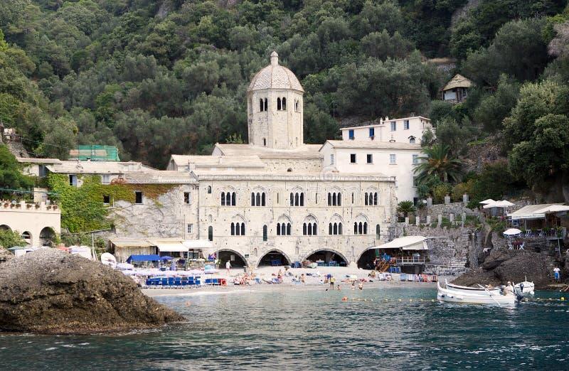 Abadia de San Fruttuoso, Italy fotografia de stock royalty free