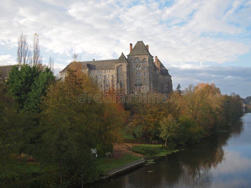 Abadia de Solesmes, France. imagem de stock