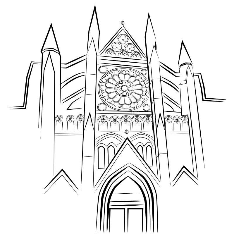 Abadia de Westminster ilustração royalty free