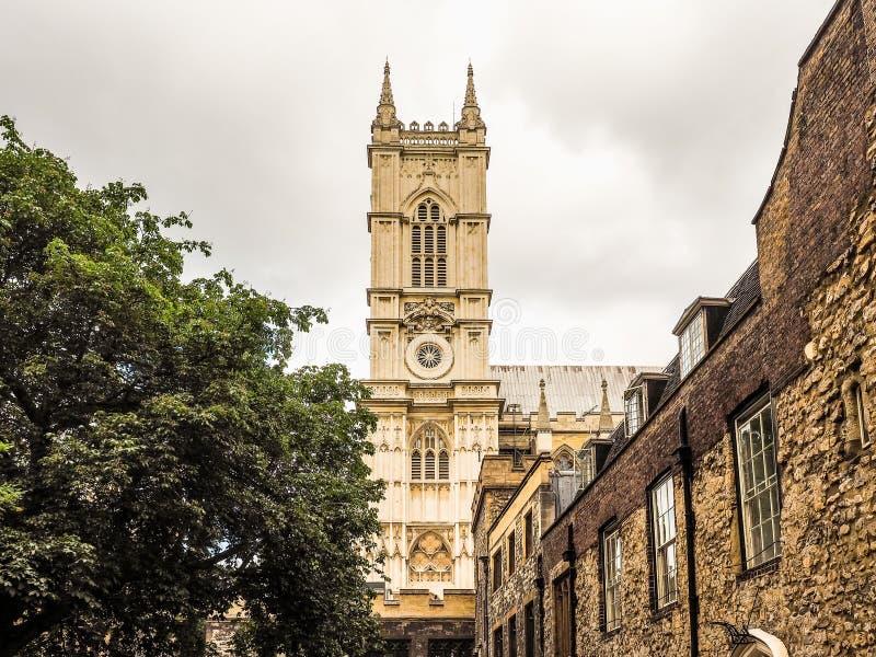 Abadia de Westminster em Londres (hdr) fotografia de stock royalty free