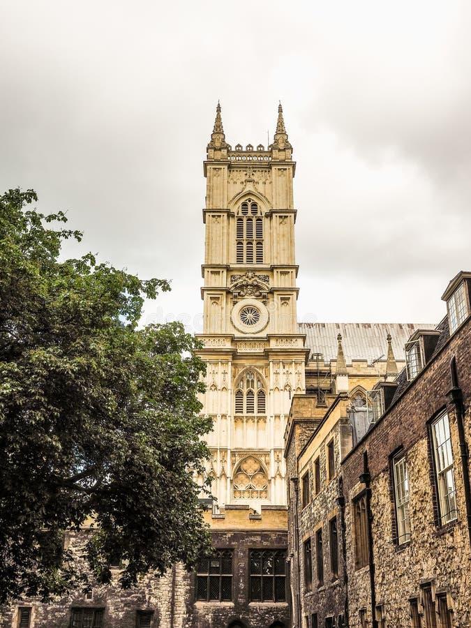 Abadia de Westminster em Londres (hdr) imagens de stock royalty free