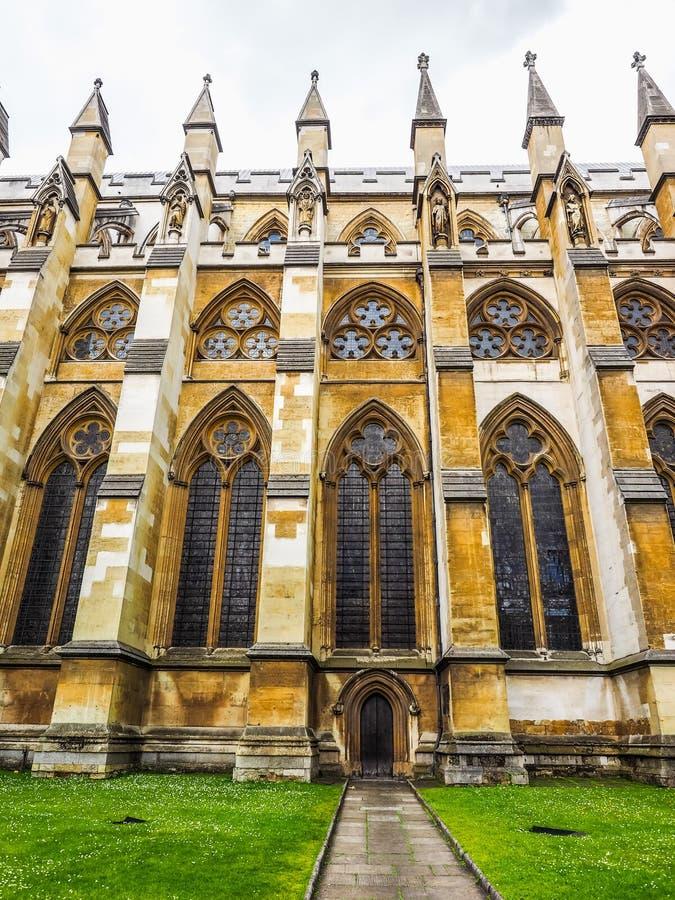 Abadia de Westminster em Londres (hdr) imagem de stock