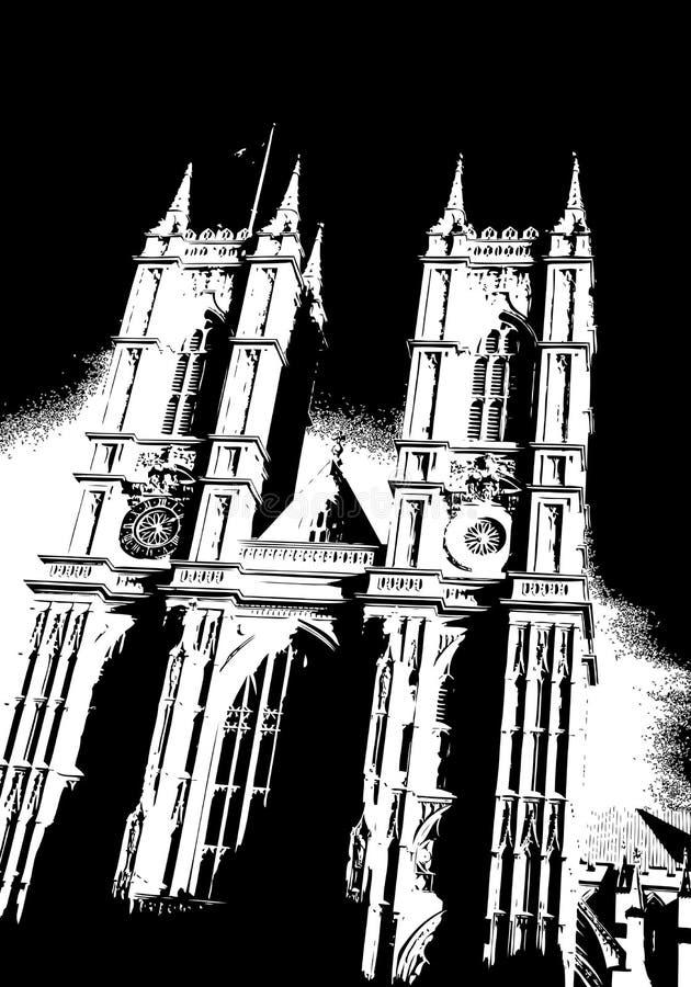 Abadia de Westminster Londres Reino Unido ilustração royalty free