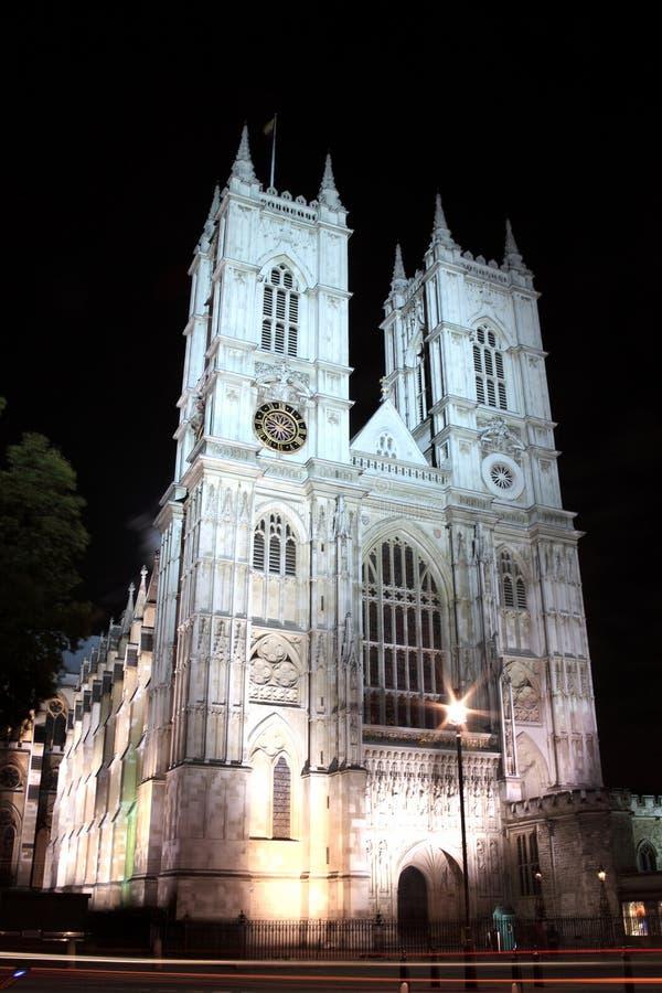 Abadia de Westminster na noite fotos de stock royalty free