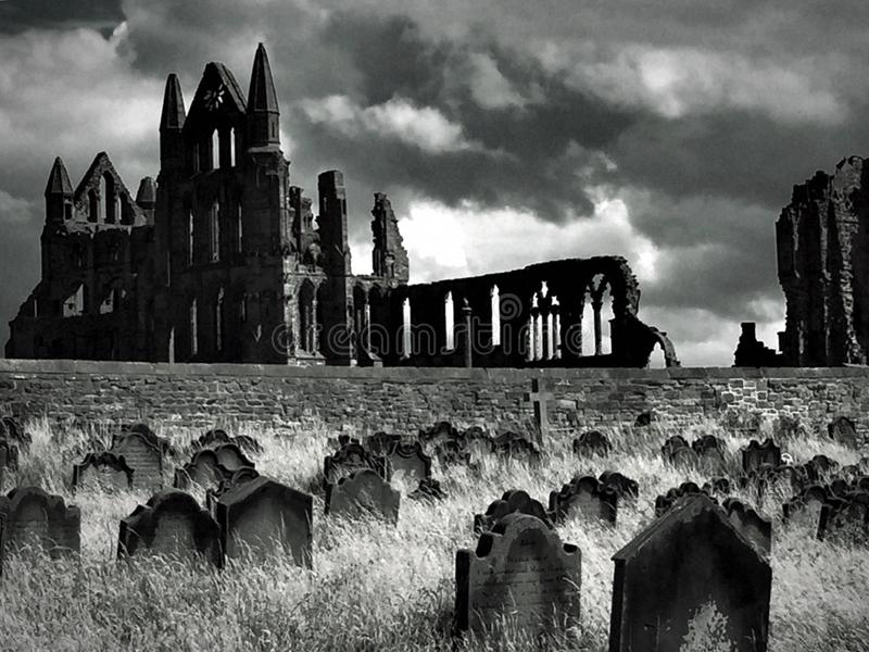 Abadia de Whitby fotografia de stock