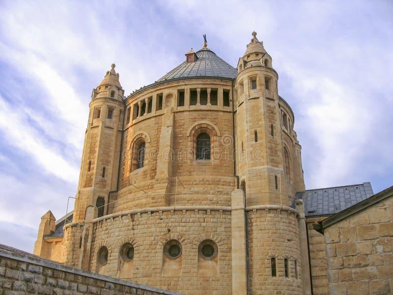 Abadia do Dormition no Jerusalém fotografia de stock royalty free