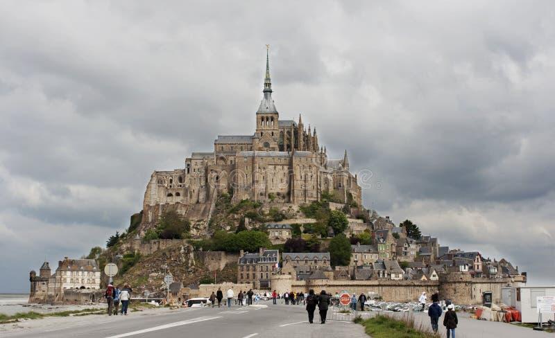 Abadia do Saint Michel de Mont, Normandy, France foto de stock royalty free