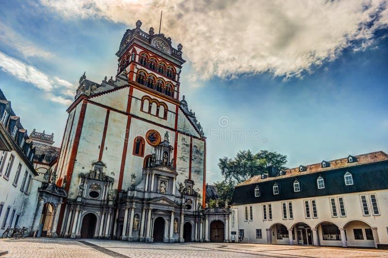 Abadia do ` do St Matthias ou St famoso Matthias de Benediktinerabtei no Trier, fotografia de stock royalty free
