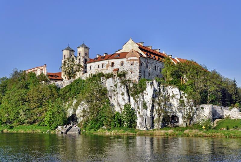 Abadia em Tyniec, Krakow do licor beneditino, Poland fotos de stock royalty free