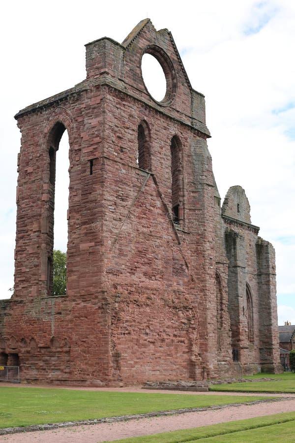 A abadia histórica de Arbroath em Escócia, Grâ Bretanha fotografia de stock