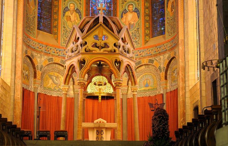 Abadia Maria Laach do Romanesque imagem de stock royalty free
