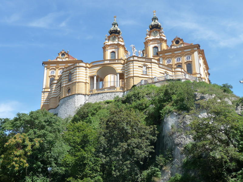Abadia Melk, Áustria imagens de stock royalty free