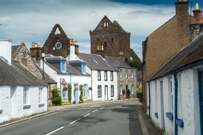 Abadia nova, e abadia do querido, Dumfriesshire, Escócia imagem de stock royalty free