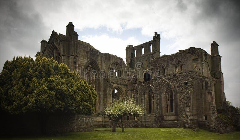 Abadia Scotland da melrose fotografia de stock