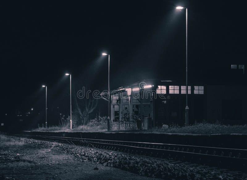 Abadonedstation Nog aanstekend stock foto's
