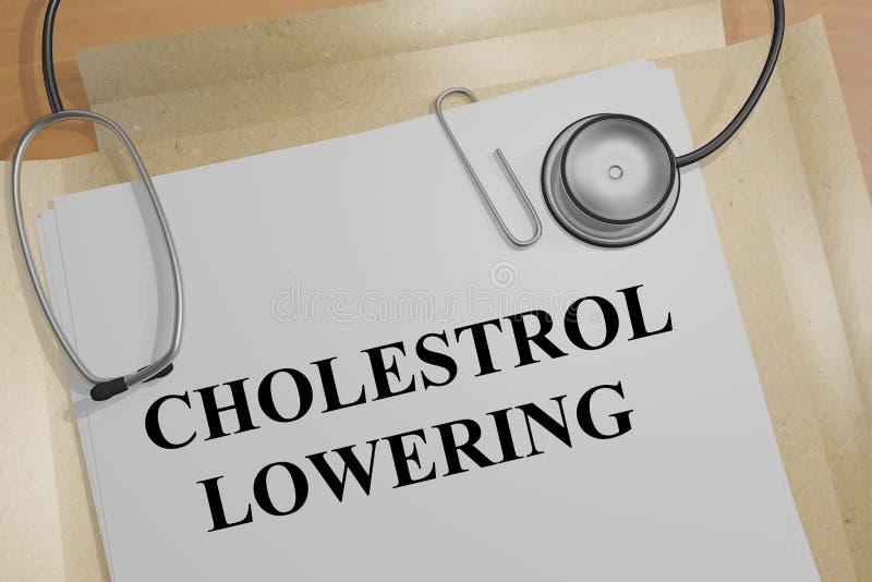 Abaissement de cholestérol - concept médical illustration libre de droits