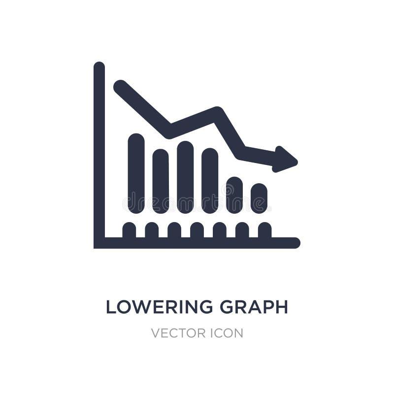 abaissement de l'icône de graphique sur le fond blanc Illustration simple d'élément de concept de commercialisation illustration libre de droits