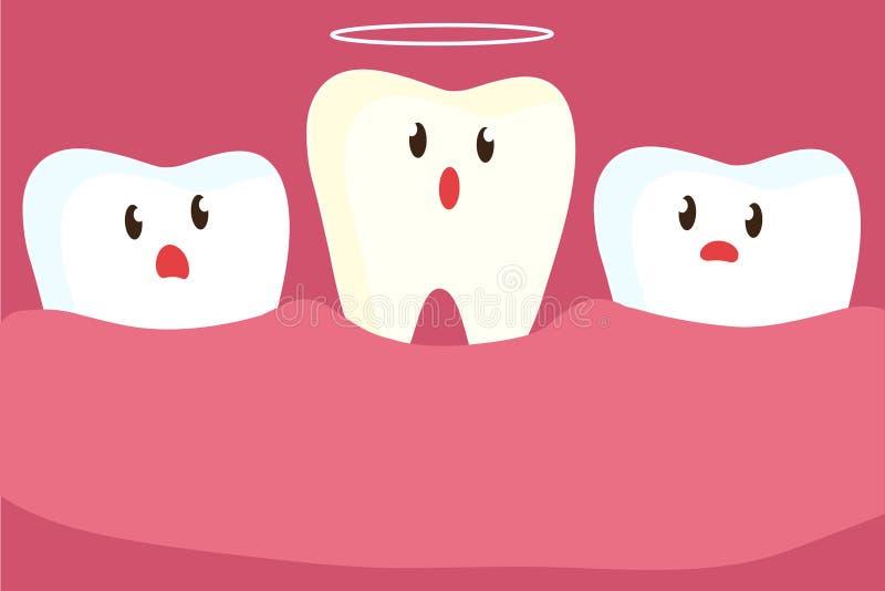 Abaissement de la dent Clinique dentaire illustration de vecteur