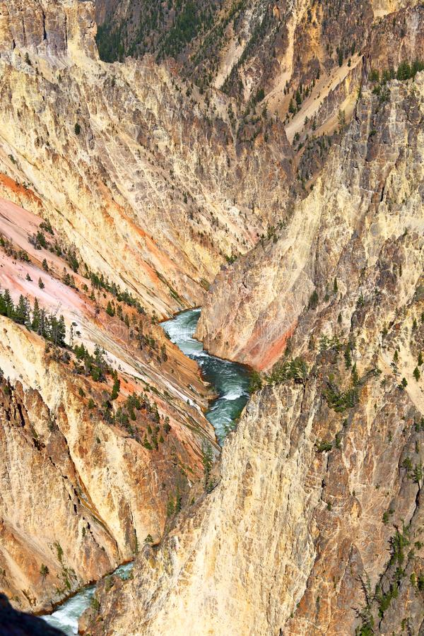 Abaissez la vue grande d'automnes, Grand Canyon de parc national de Yellowstone, Wyoming, Etats-Unis photos stock