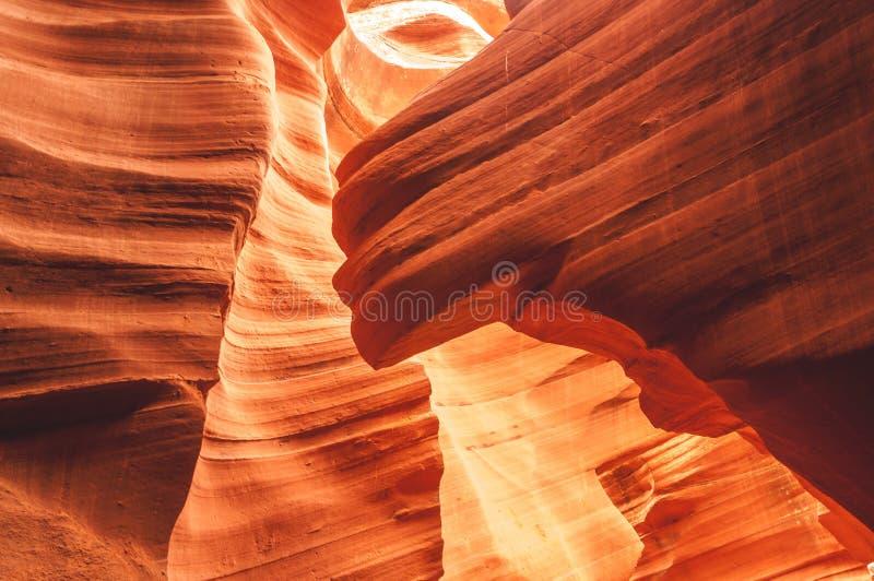 Abaissez le canyon d'antilope : Une beauté à tirer indépendamment du temps photos libres de droits