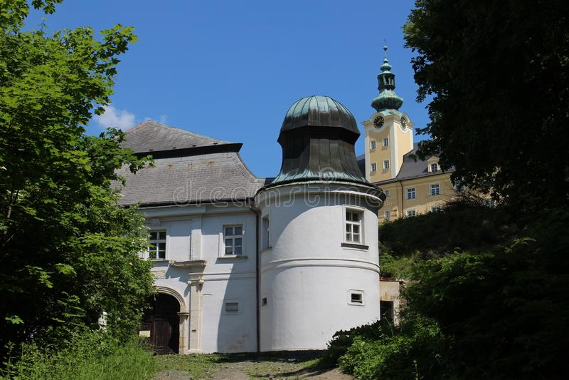 Abaissez le château dans Fulnek image libre de droits